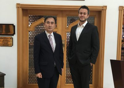 GSA CEO Giorgio Cafiero with South Korea's Ambassador to Oman Kang Doho