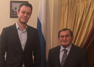 GSA CEO Giorgio Cafiero with Vagif Garaev, Russian Ambassador to Bahrain