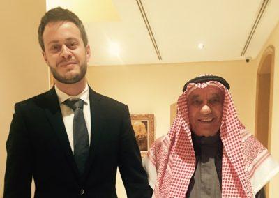 Former GCC Secretary General Abdullah Yaccoub Bishara with GSA CEO Giorgio Cafiero